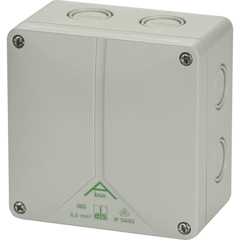 Abzweigdose AP//FR IP65 grau Abox 160-L Spelsberg Aufputzdose 180x180 mm