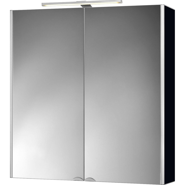 jokey spiegelschrank 65 5 cm dekor alu schwarz eek a. Black Bedroom Furniture Sets. Home Design Ideas