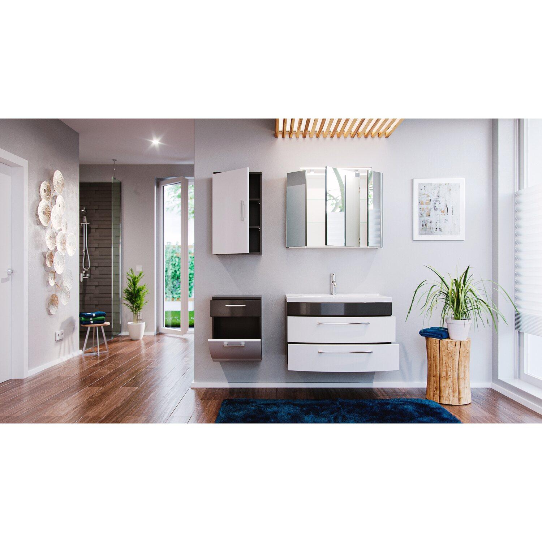 posseik badm bel set eek a rima anthrazit wei 5 teilig. Black Bedroom Furniture Sets. Home Design Ideas