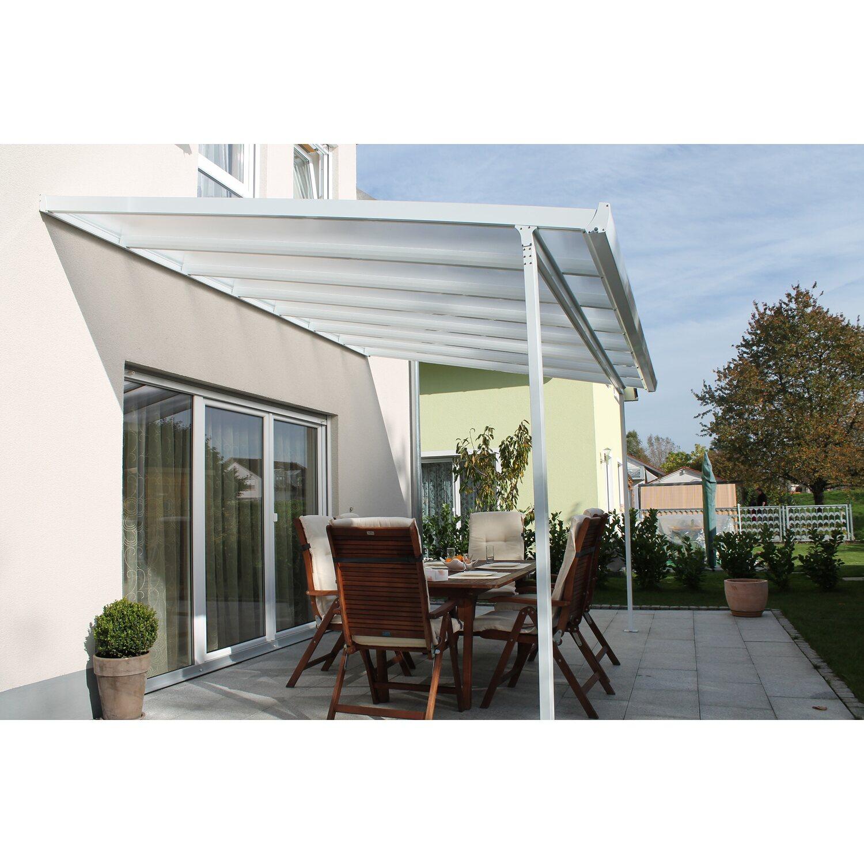 Terrassenuberdachung Bausatz Bxt 306 Cm X 306 Cm Weiss Kaufen Bei Obi