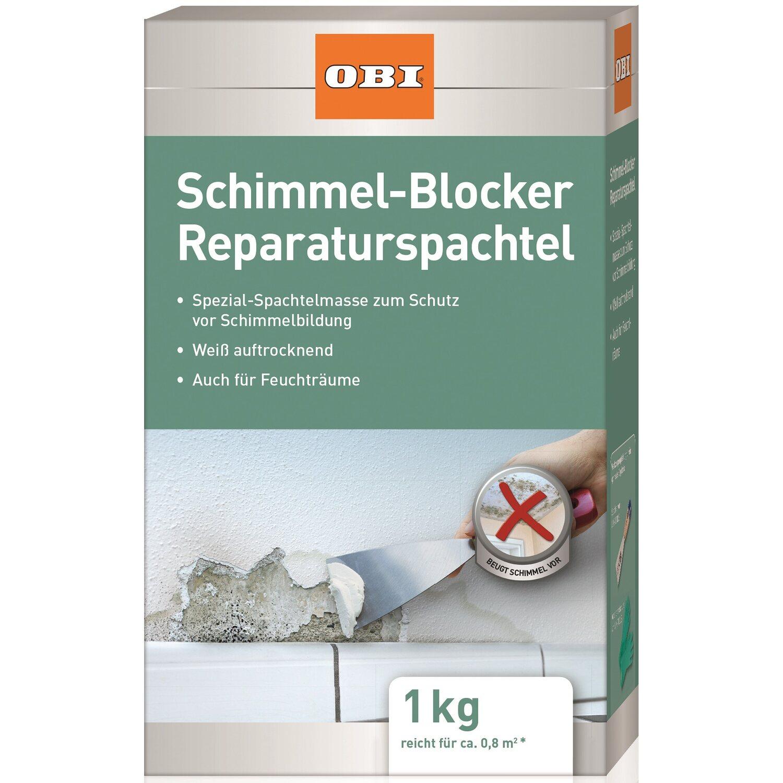 OBI Schimmel-Blocker Reparaturspachtel Weiß 1 kg