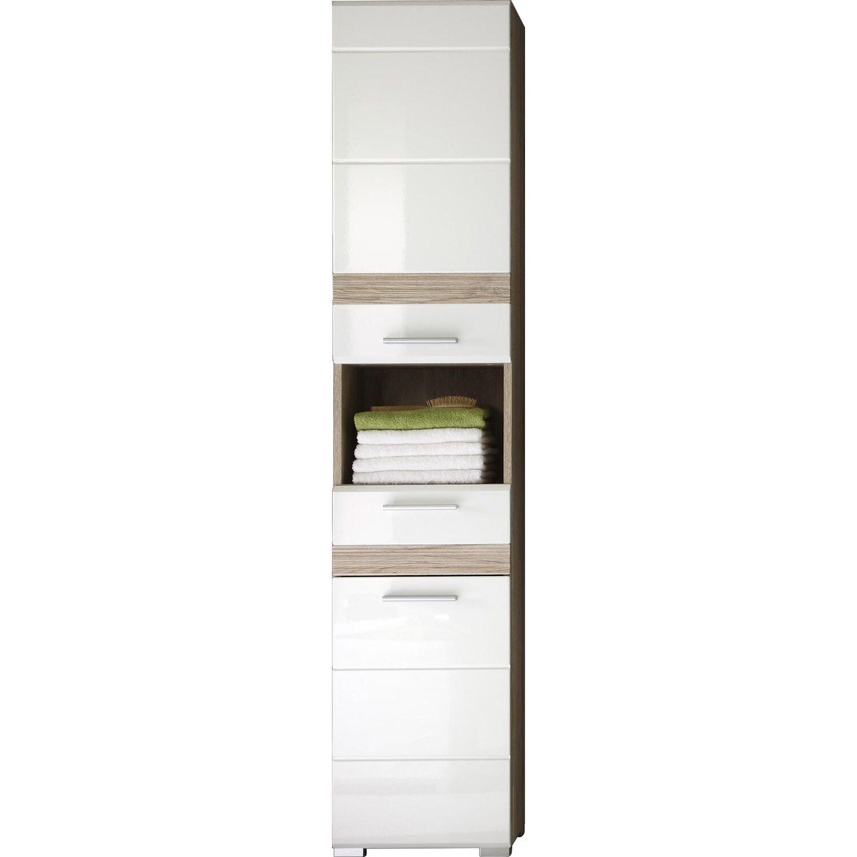 schmaler schrank weiss bad machen sie den preisvergleich. Black Bedroom Furniture Sets. Home Design Ideas