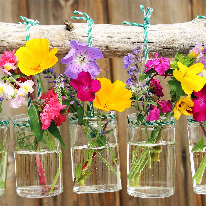 Pro-Art Glasbild Plants in Vases I 20 cm x 20 cm x 1,3 cm