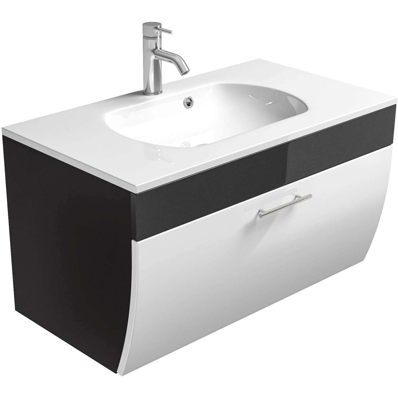 Posseik Waschplatz Salona 90 cm Anthrazit-Weiß