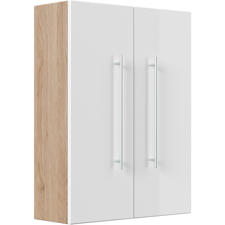 Posseik Hängeschrank 70 cm Salona Sonoma-Weiß | Bad > Badmöbel > Hängeschränke fürs Bad | Weiß | Posseik