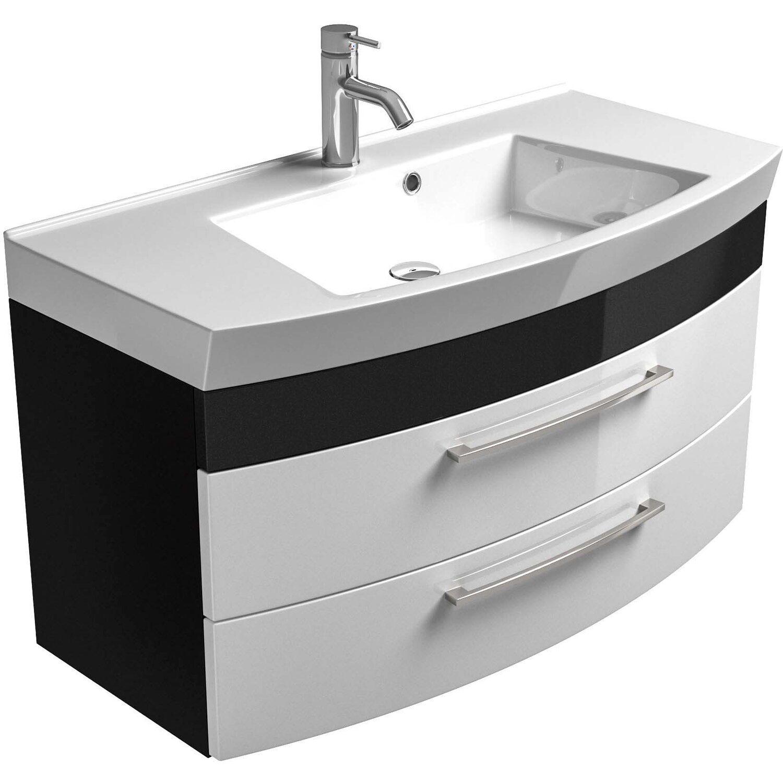 Posseik Waschplatz Rima Anthrazit-Weiß