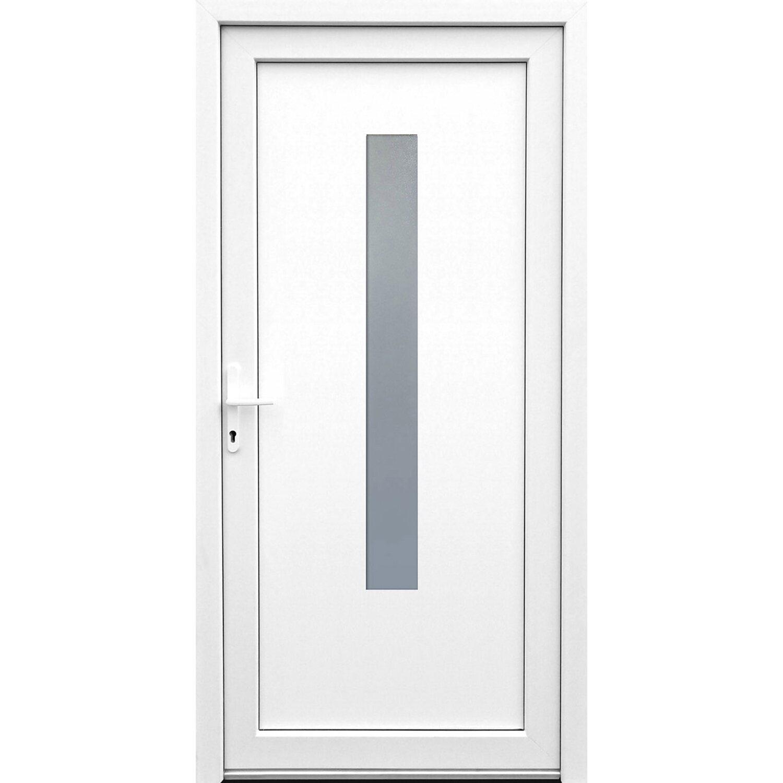 Kunststoff-Nebeneingangstür 98 cm x 198 cm K508 Weiß Anschlag Links | Baumarkt > Modernisieren und Baün > Türen | Kunststoff