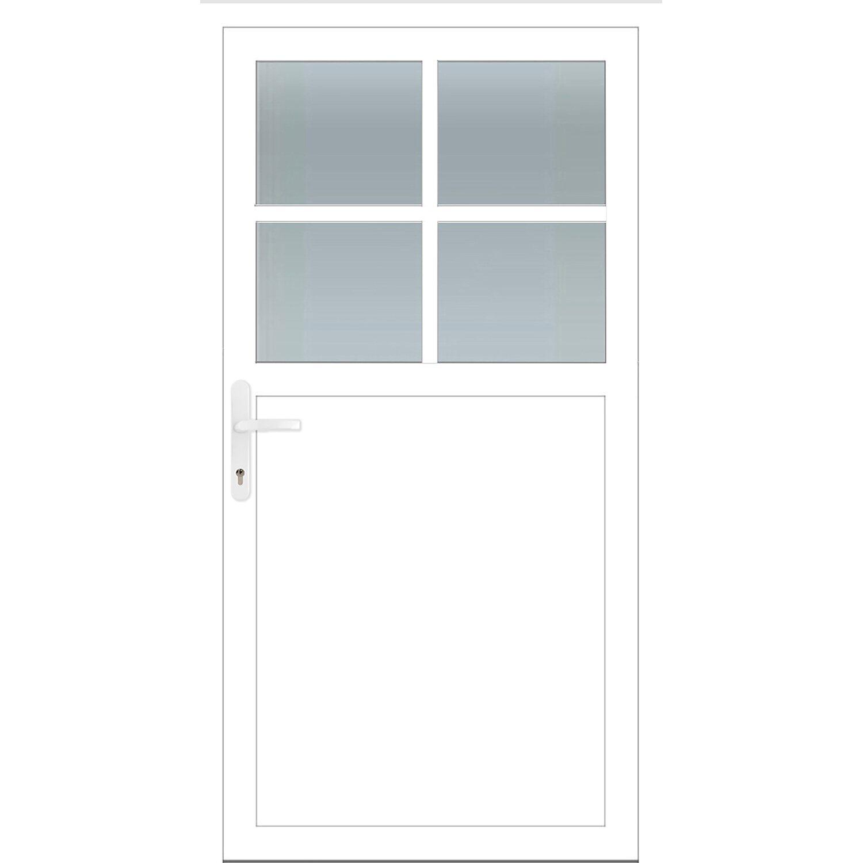Hervorragend Aluminium-Nebeneingangstür 98 cm x 198 cm A502 Weiß Anschlag Links FJ71