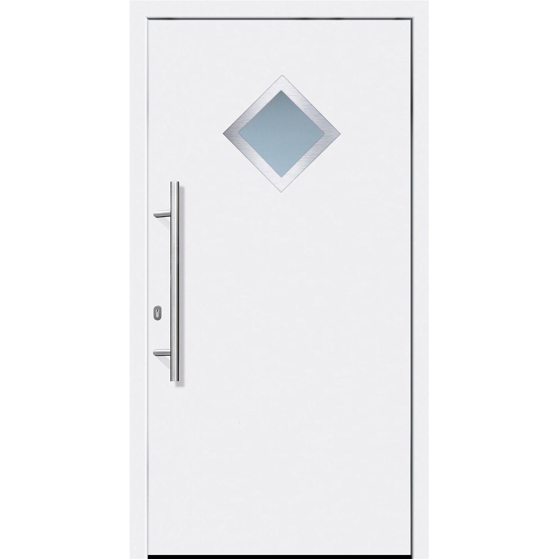 Aluminium-Haustür 110 cm x 210 cm A013 Weiß Anschlag Links | Baumarkt > Modernisieren und Baün