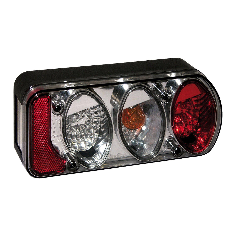 Eufab  Anhänger-Rücklicht-Set rechts Rauchglas