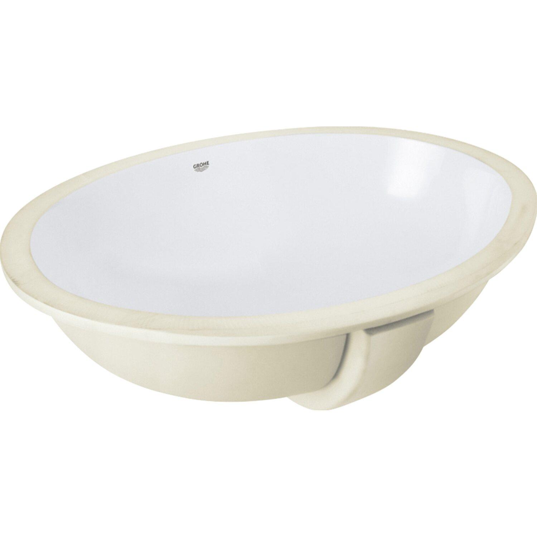 Grohe Unterbau Waschbecken Bau Keramik Weiss 55 Cm Kaufen Bei Obi