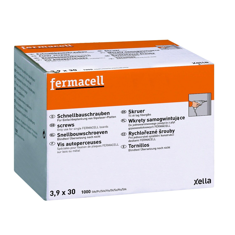 Fermacell  Schnellbauschrauben 3,9 mm x 30 mm 1000 Stück