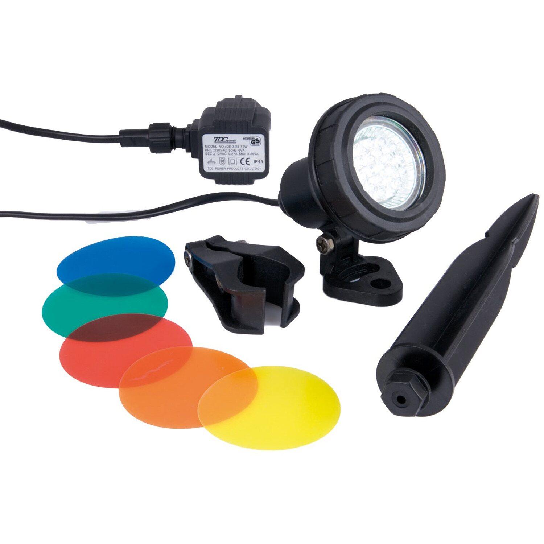 Ubbink MultiBright 20 LEDs - Unterwasserleuchte 4 Farbscheiben Trafo 12 V MR16 | Lampen > Aussenlampen > Wasserleuchten | Ubbink