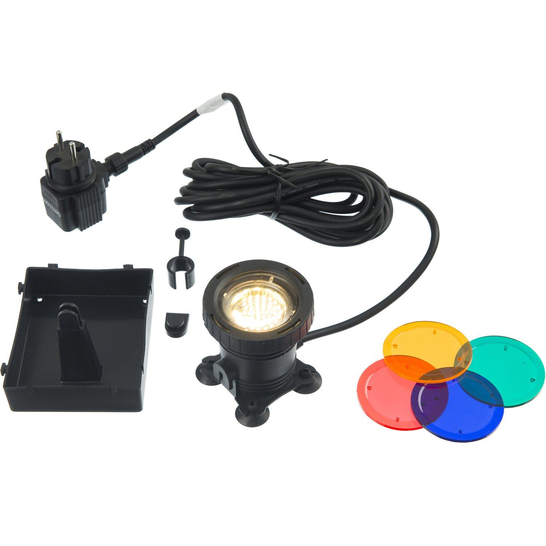 Ubbink Aqualight 30 - LED - Unterwasserleuchte 4 Farbscheiben Trafo 12V MR16 | Lampen > Aussenlampen > Wasserleuchten | Ubbink
