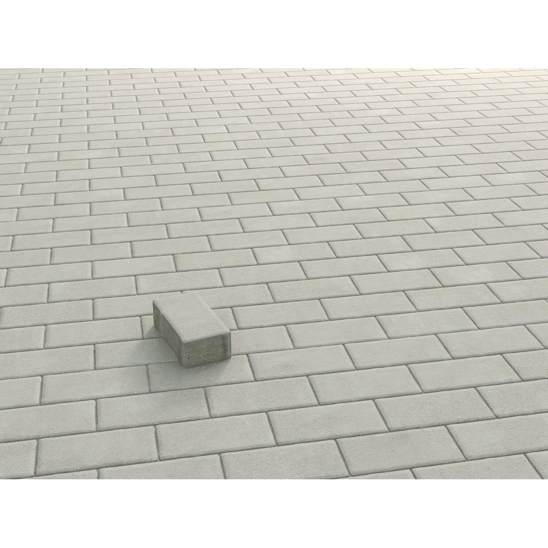 Rechteck-Pflaster Beton Grau 20 cm x 10 cm x 6 cm