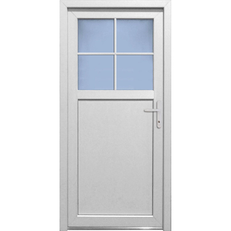 Kunststoff-Nebeneingangstür K 502 Weiß 98 cm x 198 cm Anschlag Rechts | Baumarkt > Modernisieren und Baün | PANTO