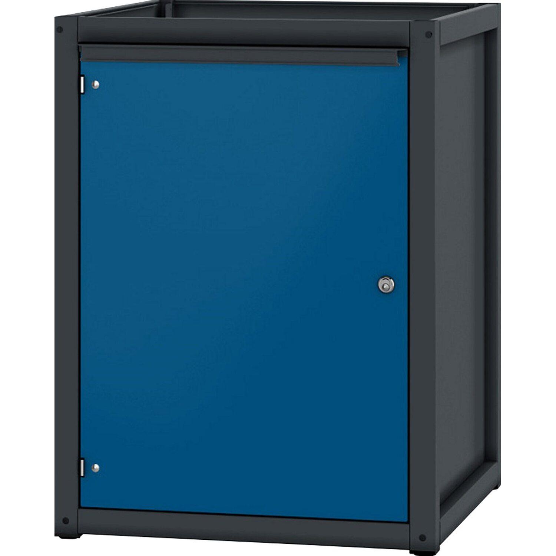 pador sockelschrank 1 t r anthrazitgrau enzianblau kaufen bei obi. Black Bedroom Furniture Sets. Home Design Ideas