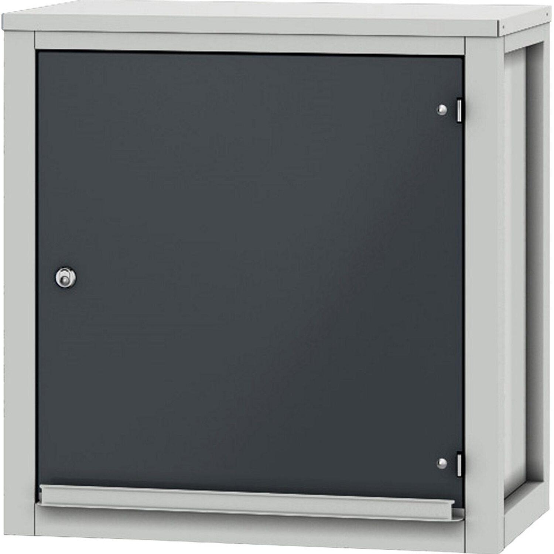 pador h ngeschrank 1 t r lichtgrau anthrazitgrau kaufen bei obi. Black Bedroom Furniture Sets. Home Design Ideas