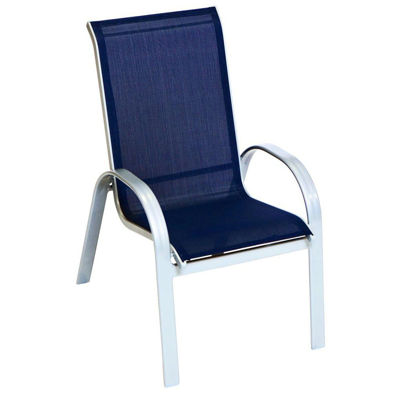 Stapelstuhl Amalfi 2er-Set Marineblau kaufen bei OBI