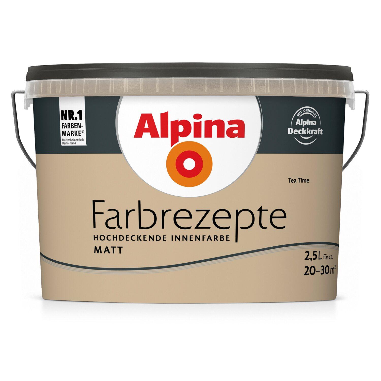 Alpina Farbrezepte Tea Time matt 2,5 l