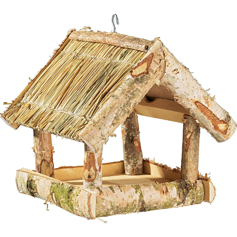 vogelfutterhaus mit strohdach modell b kaufen bei obi. Black Bedroom Furniture Sets. Home Design Ideas