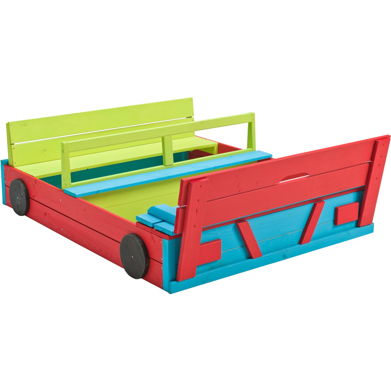SwingKing Sandkasten Auto farbig 120 cm x 100 cm | Kinderzimmer > Spielzeuge > Sandkästen | Holz | SwingKing