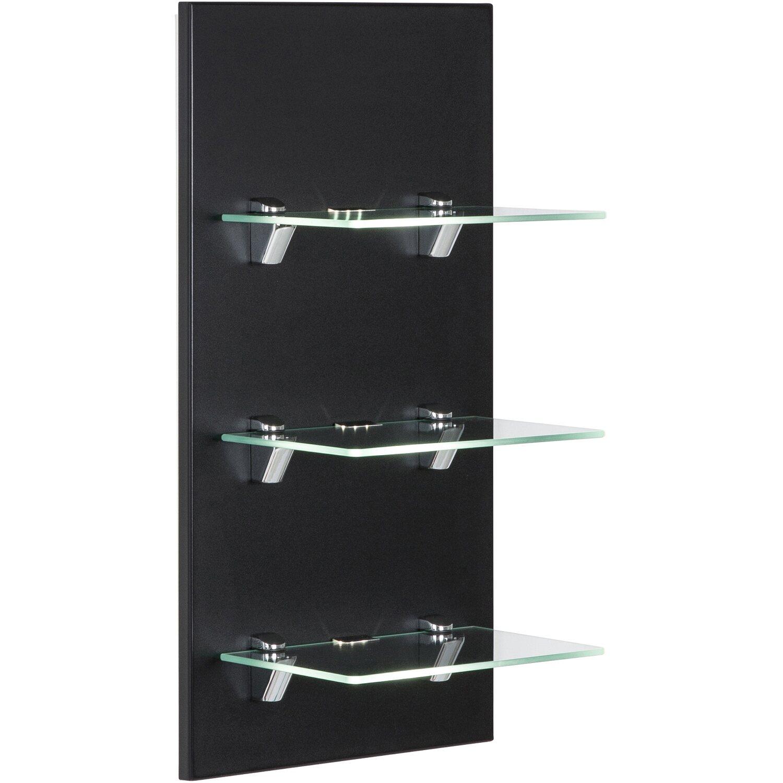led panel viva schwarz seidenglanz mit 3 glasablagen eek. Black Bedroom Furniture Sets. Home Design Ideas