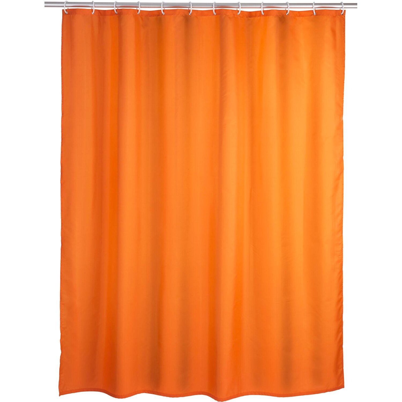 Wenko Anti-Schimmel Duschvorhang Uni 180 cm x 200 cm Orange