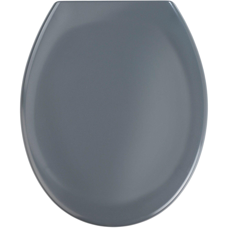 Wenko Premium WC-Sitz Ottana mit Absenkautomatik Dunkelgrau