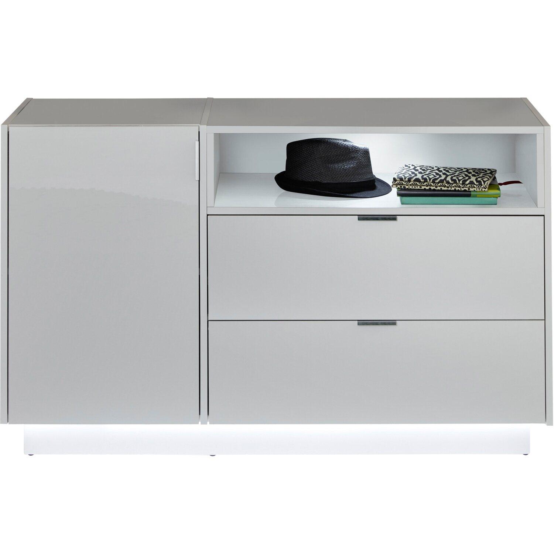sideboard atlanta wei hochglanz 120 x 73 x 40 cm kaufen bei obi. Black Bedroom Furniture Sets. Home Design Ideas