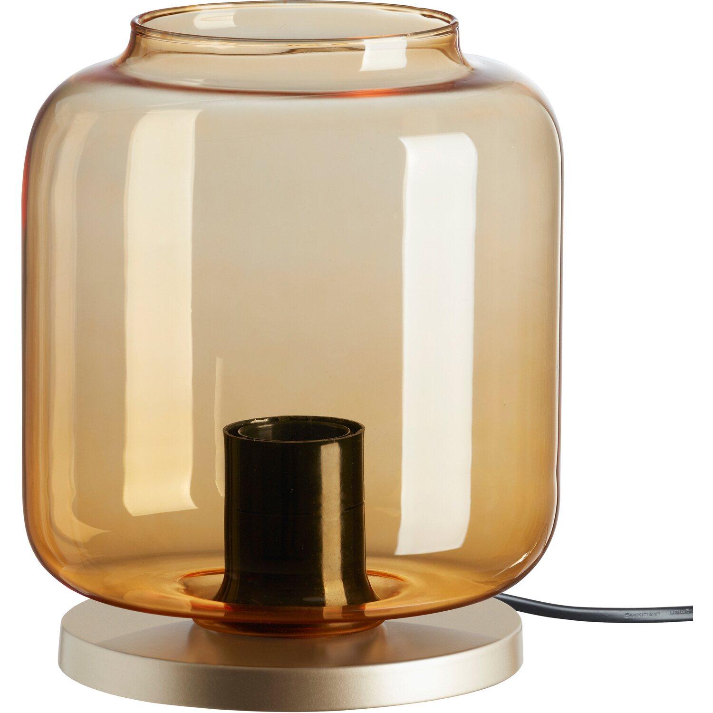 Briloner Tischleuchte Pale Gold Amber Eek E A Kaufen Bei Obi
