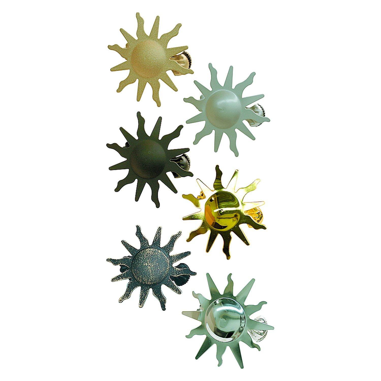 Gardinia Dekoklammer Sun Schwarz Ø 8 cm
