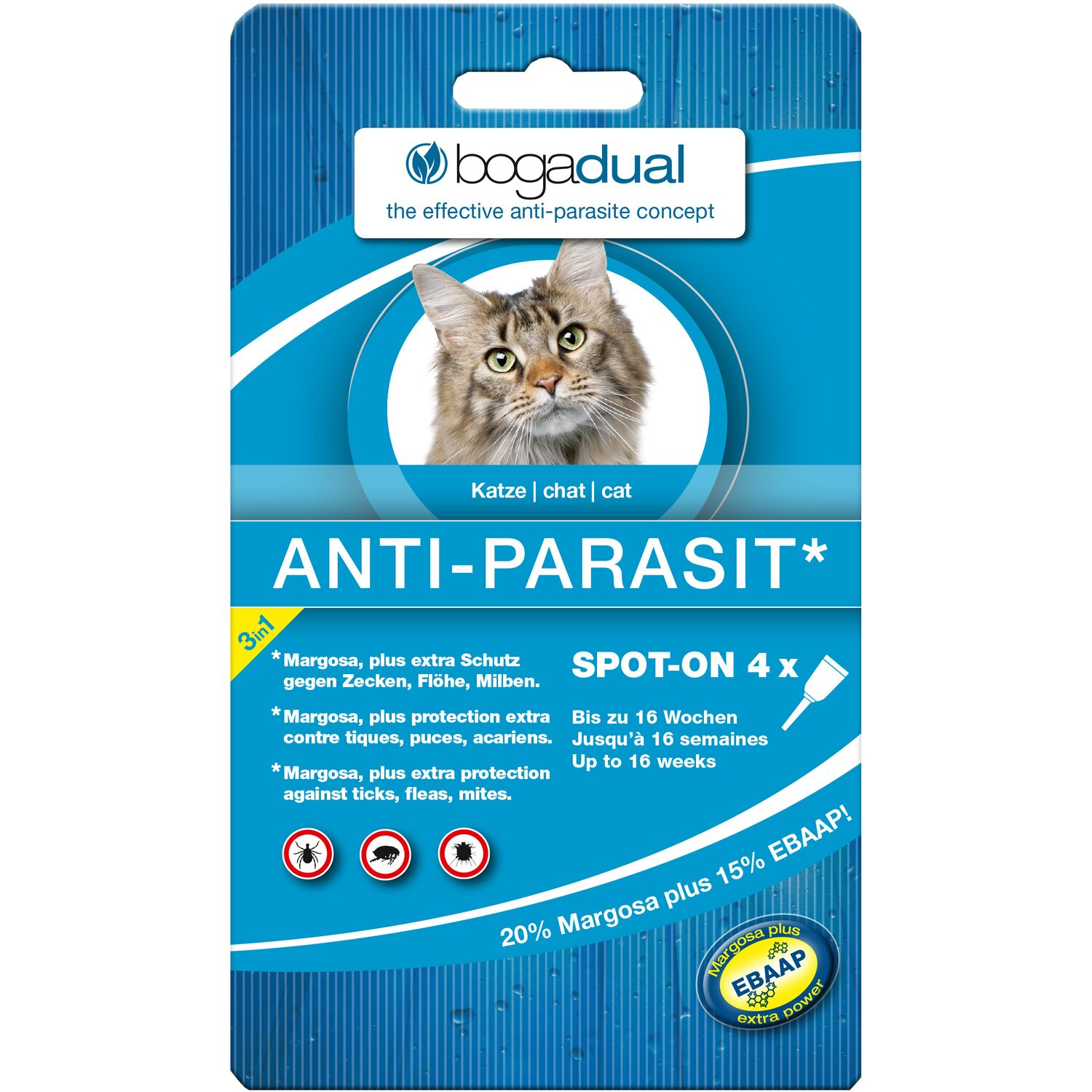 Bogadual® Anti-Parasit Spot-On Katze 4 x 0.75 ml
