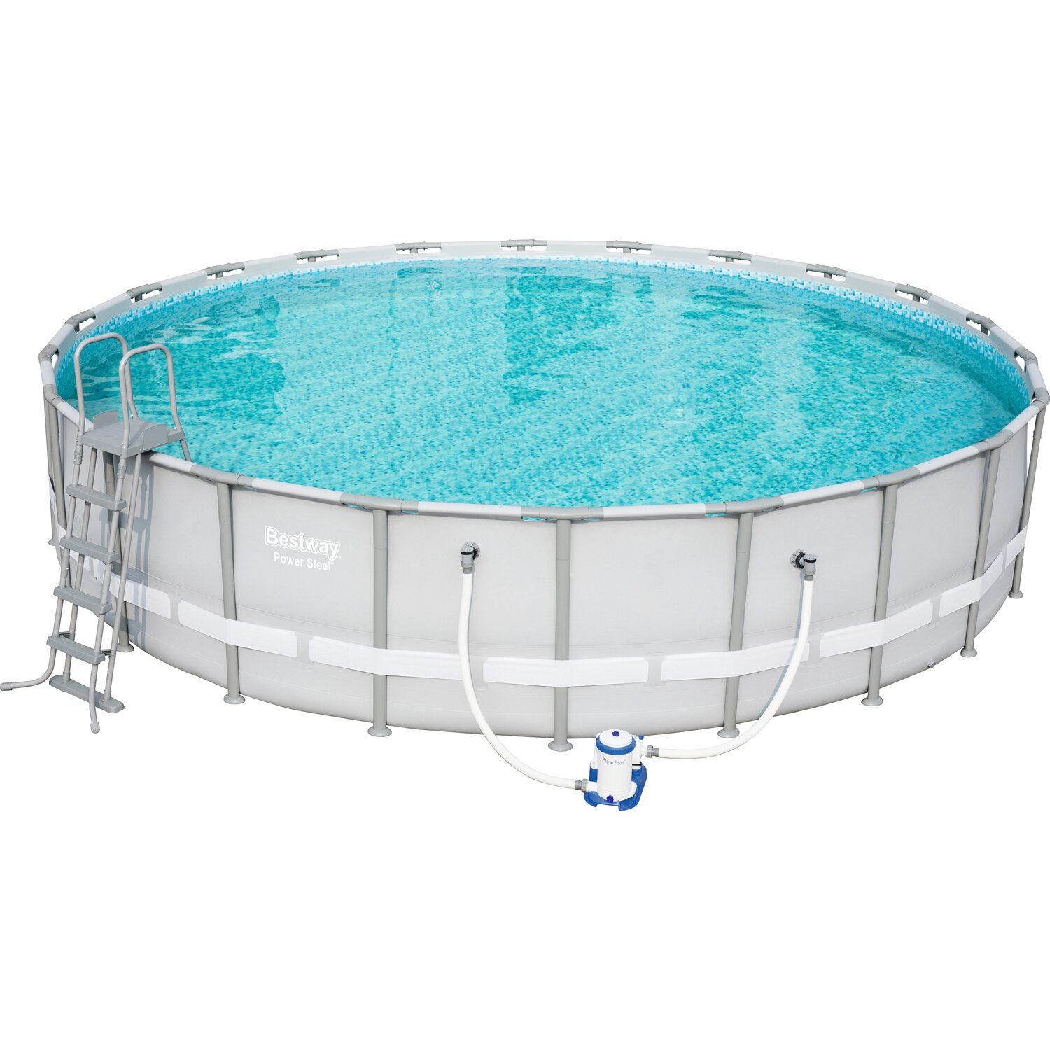 Bestway stahlrahmen pool power komplett set 671 cm x 132 for Bestway pool bei obi