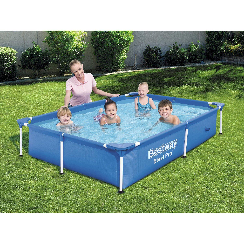 Bestway stahlrahmen pool pro 221 cm x 150 cm x 43 cm for Bestway pool bei obi