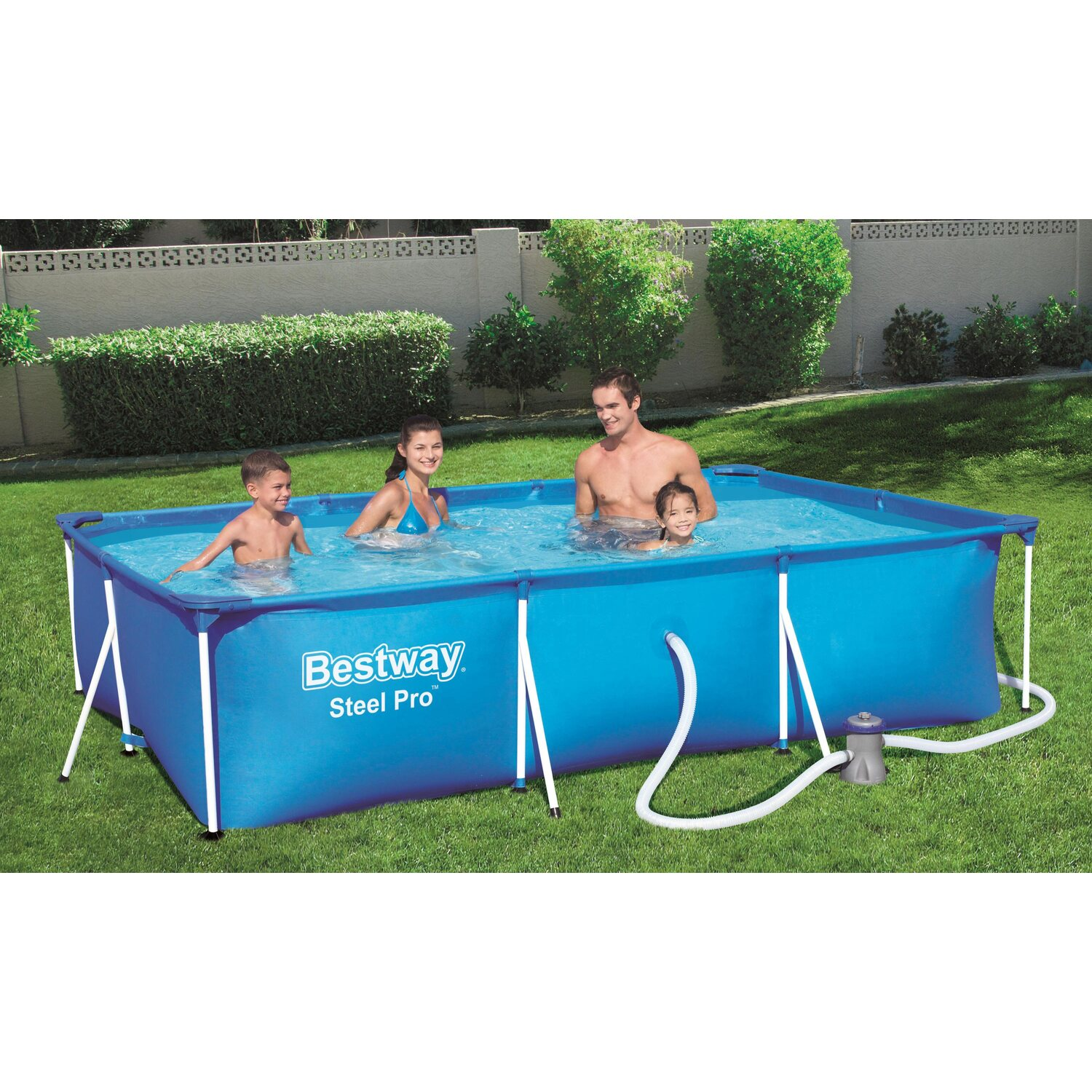 Bestway stahlrahmen pool pro set 300 cm x 201 cm x 66 cm for Bestway pool obi