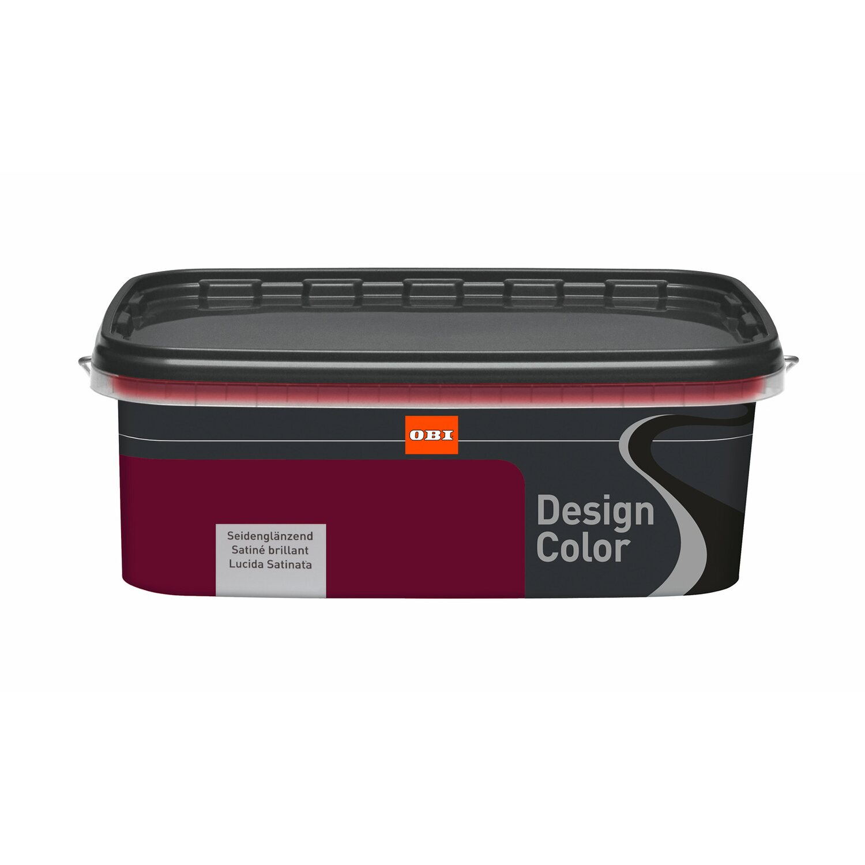 Verzauberkunst Wandfarbe Aubergine Sammlung Von Obi Design Color Seidenglänzend 1 L