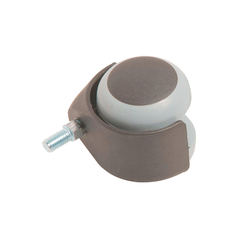 Parkett-Doppelrolle mit Gewinde Ø 50 mm 40 kg | Baumarkt > Bodenbeläge > Parkett | Kunststoff | OBI
