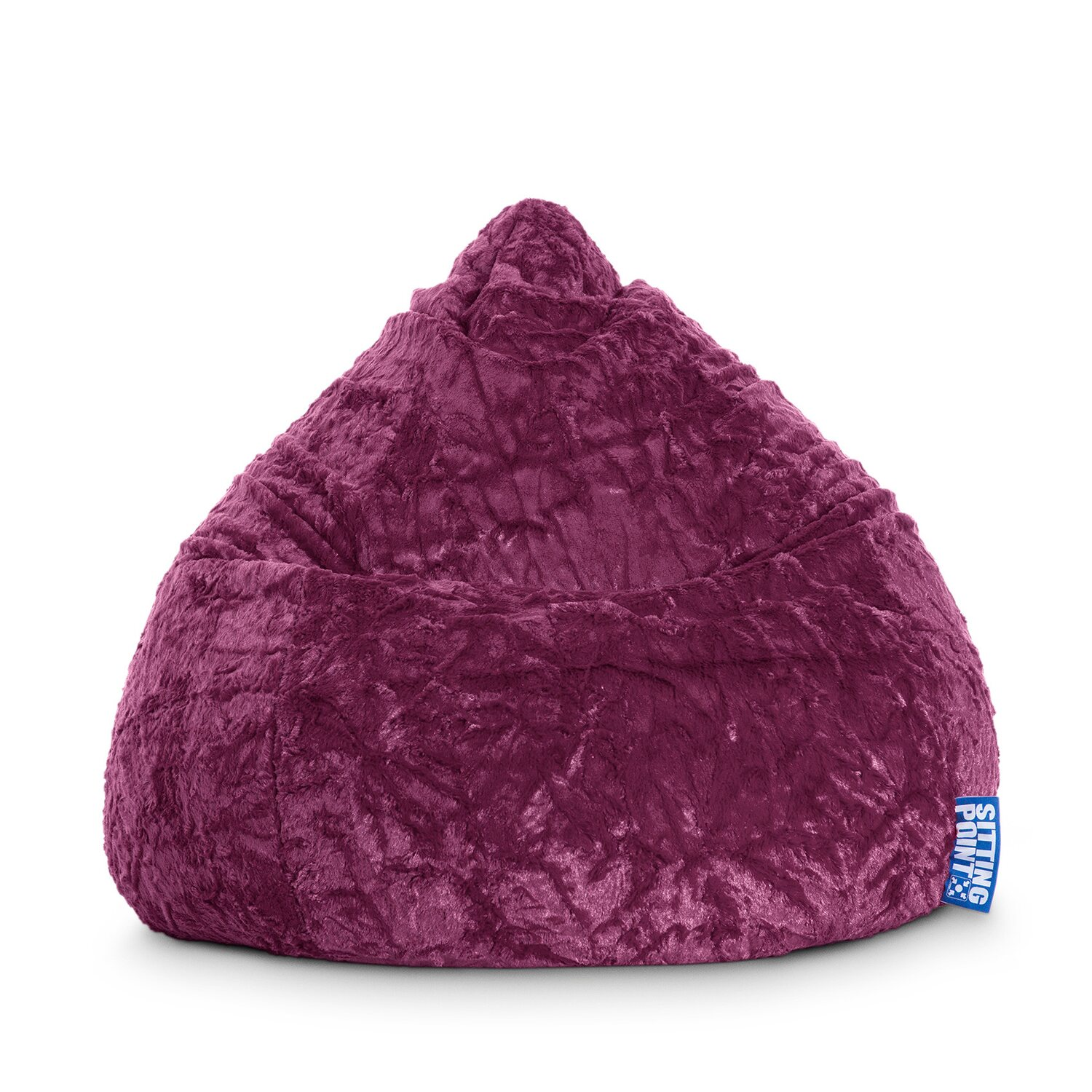 Sitting Point Sitzsack Fluffy 220 l Aubergine
