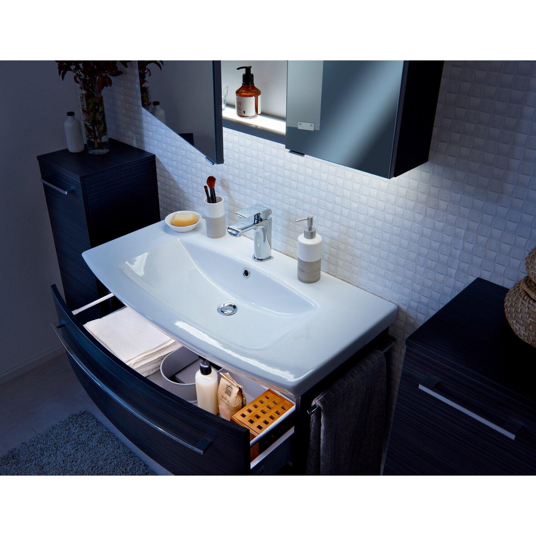 fackelmann spiegelschrank 90 cm lino dark oak 2 t rig eek a kaufen bei obi. Black Bedroom Furniture Sets. Home Design Ideas