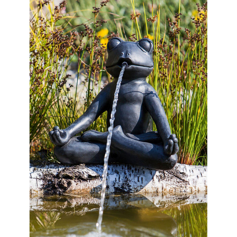 Heissner Teich-Deko Teichfigur Yoga-Frosch 23 cm hoch | Garten > Teiche und Zubehör | Heissner