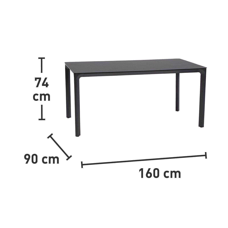 Gartentisch Ellenton Rechteckig 160 Cm X 90 Cm In Dunkelgrau Kaufen Bei Obi