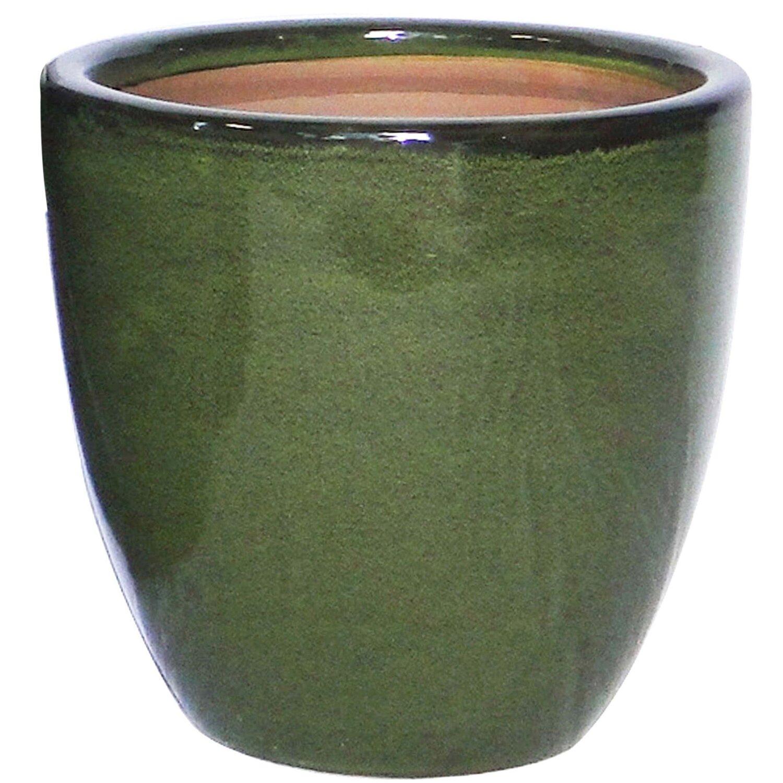 Vase Aus Keramik ø 22 Cm Grün Glasiert Kaufen Bei Obi