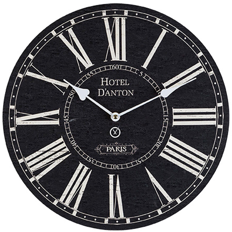 Sompex Clocks Wanduhr D´Anton Schwarz