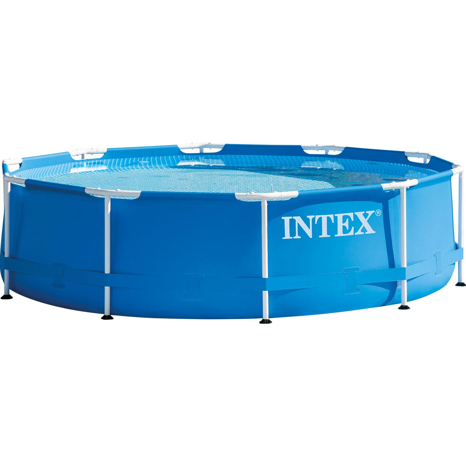 Ber hmt metallrahmen ber den boden pools bilder for Hagebau intex pool