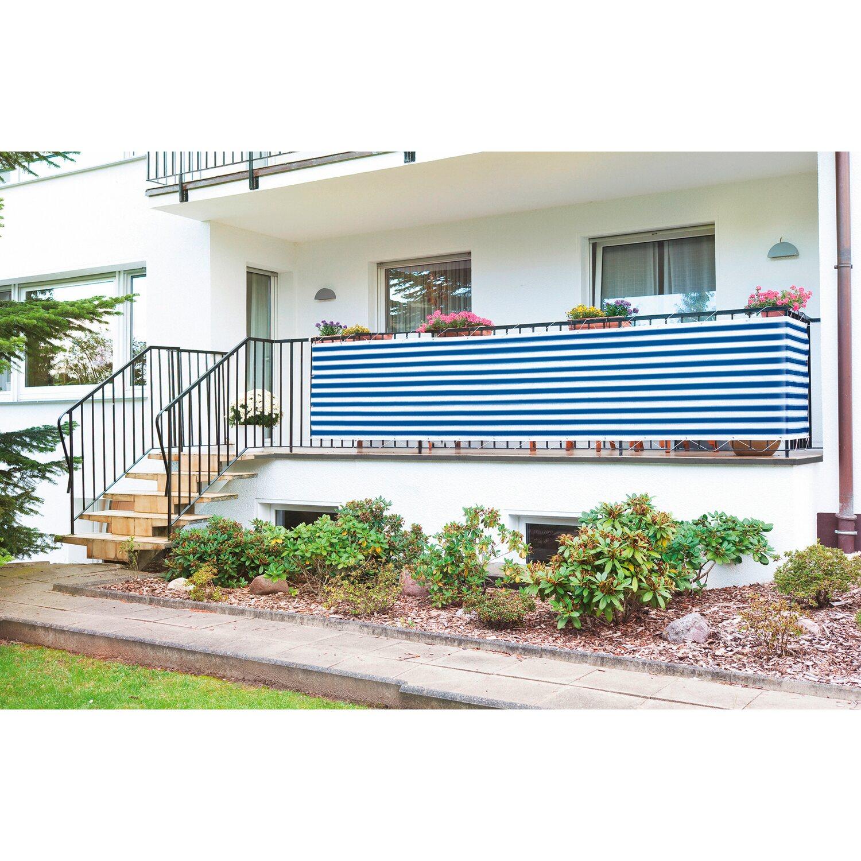 CMI Balkonbespannung Grau gestreift 500 cm x 90 cm kaufen bei OBI