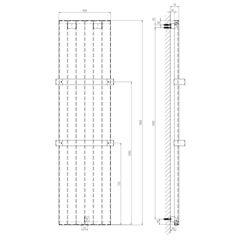 Schulte Design-Heizkörper New York mit Handtuchhalter 805 W ...
