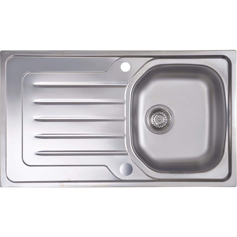 Eurodomo Einbauspüle Onda 86 cm Edelstahl Glatt | Küche und Esszimmer > Spülen > Einbauspülen | eurodomo