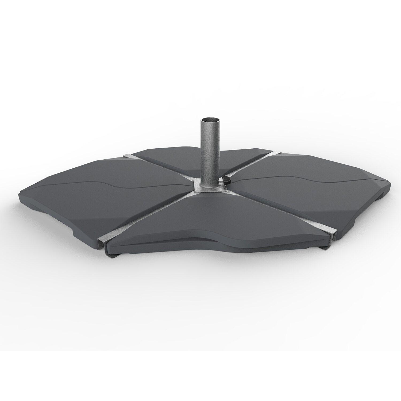 beschwerungsplatte f r ampel und sonnenschirme 12 kg dreieckig kaufen bei obi. Black Bedroom Furniture Sets. Home Design Ideas