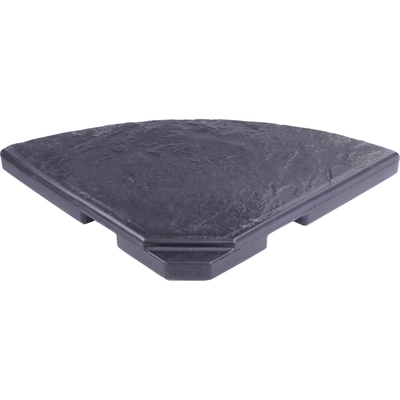 beschwerungsplatte f r ampel und sonnenschirme 18 kg viertelkreis kaufen bei obi. Black Bedroom Furniture Sets. Home Design Ideas